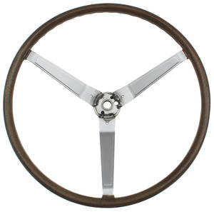 1969-70 Bonneville Steering Wheel, Simulated Wood Sport