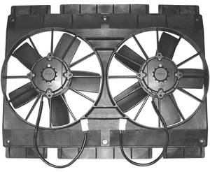 "1961-72 Cutlass Electric Fan, Mach Series Dual, 11"", Top/Bottom Flanges"