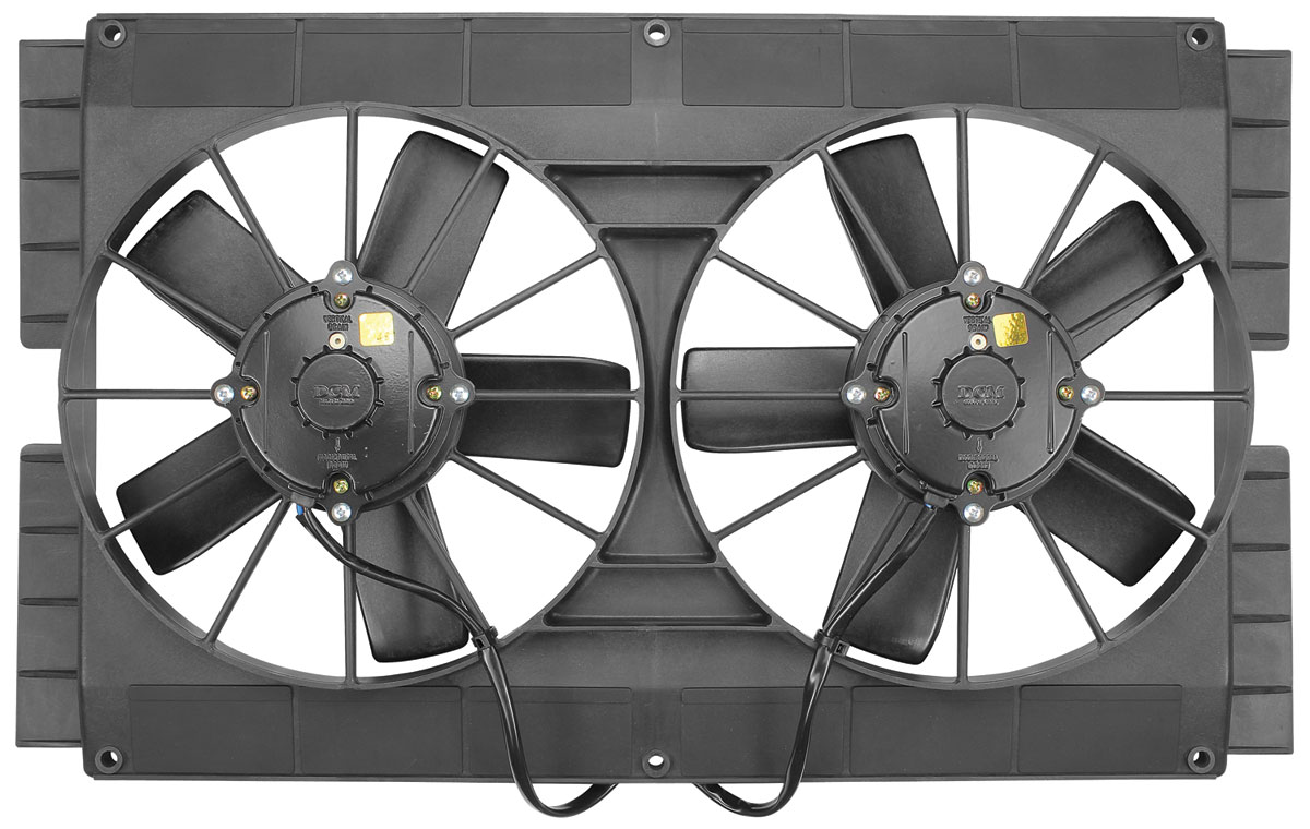 "Photo of Electric Fan, Mach Series 11"" Dual Fan side flanges"