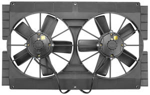"1964-1977 Chevelle Electric Fan, Mach Series 11"" Dual Fan Side Flanges"