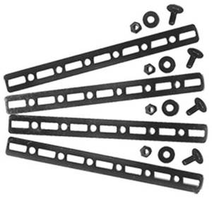 1961-73 GTO Electric Fan Accessory Mounting Metal Bracket Strips, by Maradyne