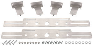 1961-1973 LeMans Electric Fan Accessory Mounting Billet Aluminum Brackets (for Fans), by Maradyne