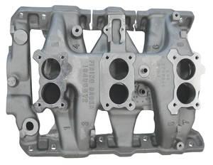 1966-1966 GTO Intake Manifold, 1966 Tri-Power Aluminum