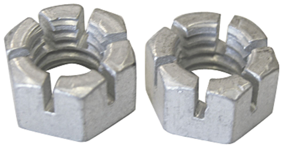 """Photo of Grand Prix Engine Accessory Nuts, Slotted 3/8""""-16"""