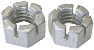 "1968-72 Grand Prix Engine Accessory Nuts, Slotted 3/8""-16"