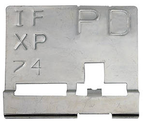 "1970-1970 GTO Radiator Identification Tag RA IV - ""PD"""