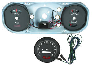 1964 GTO Gauge Cluster Conversion Hood Tach