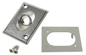 1971-72 LeMans Mirror Installation Kit, Factory-Style (Remote Mirror) w/Hardware & Retainer