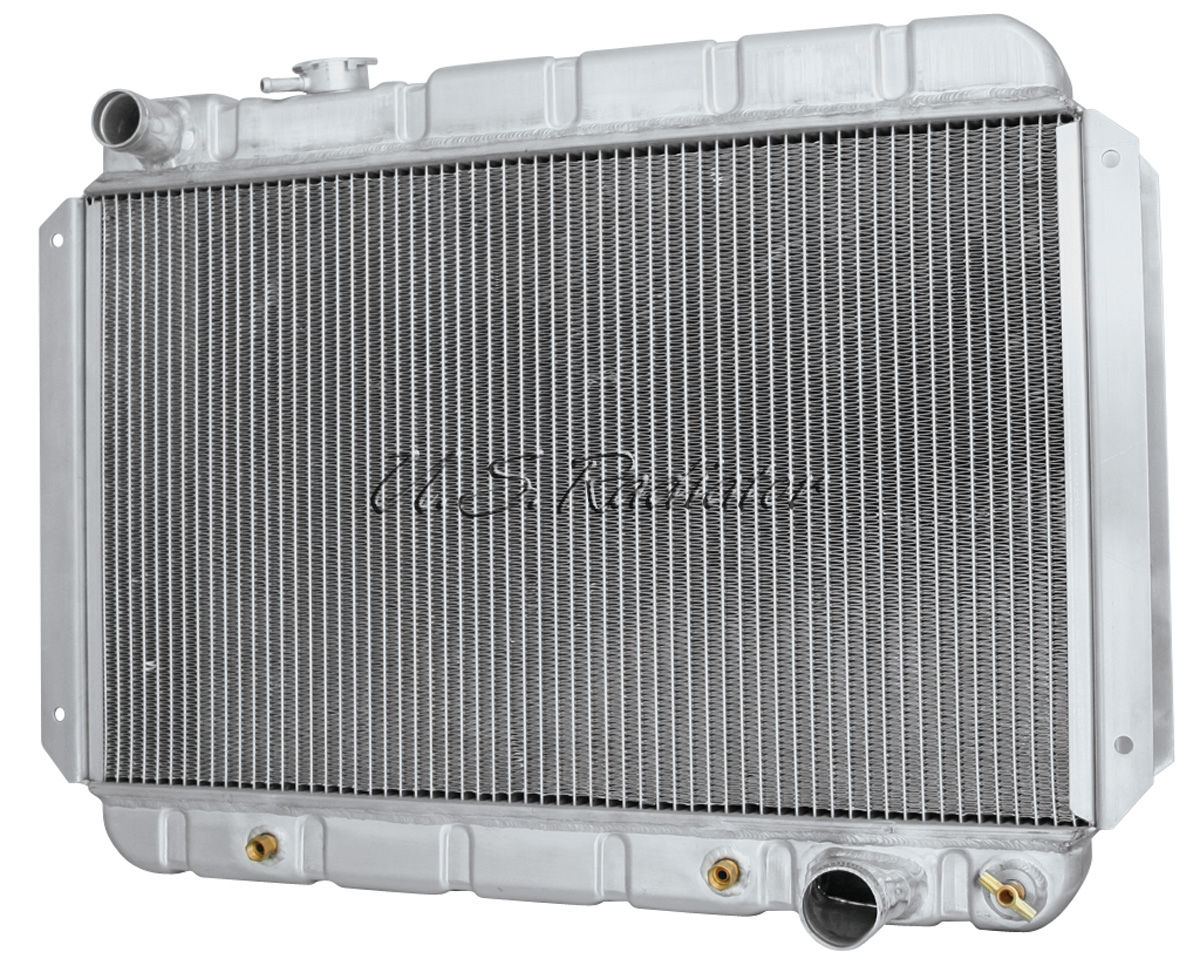 "Photo of Tempest Radiator, Aluminum Desert Cooler Polished MT, 15-1/2"" X 25-1/2"", V8 (downflow)"