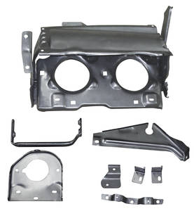1968-69 GTO Headlight Assemblies, Hideaway