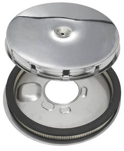 1965-66 Air Cleaner, GTO 4-BBL AFB; Base, Lid, Filter
