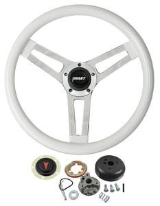 1959-63 Bonneville Steering Wheel, Classic Series White Wheel