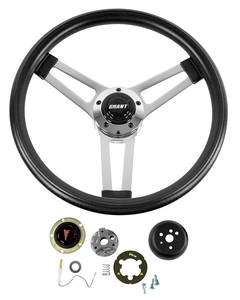 1964-66 GTO Steering Wheel, Classic Series Black Wheel, by Grant