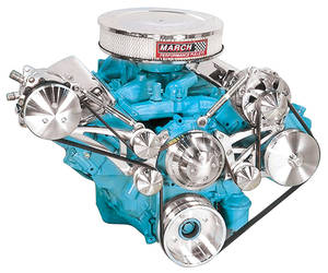1969-1976 Bonneville Serpentine Conversion, V8 With Power Steering w/AC (Pressfit), by March Performance