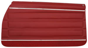 1972-1972 GTO Door Panels, Top Rail Assembled Rear, Convertible, by PUI