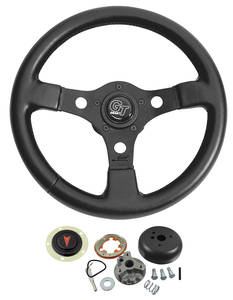 1964-66 Grand Prix Steering Wheel, Formula GT w/o Tilt, by Grant