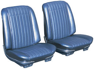 1969 GTO Seats, Pre-Assembled (Bucket) w/Headrest
