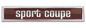 """1973 Tempest Door Panel Emblem """"Sport Coupe"""" (3-7/8"""")"""