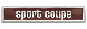 "1973 Tempest Door Panel Emblem ""Sport Coupe"" (3-7/8"")"
