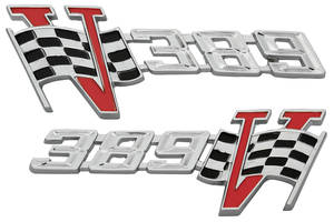 "1964-1964 Tempest Fender Emblem, 1964 ""389"""