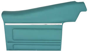 1968-1968 Tempest Door Panels, Top Rail Assembled Rear, Convertible, by PUI