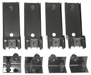 Grille Mounting Brackets, 1970 GTO Upper/Lower, 8-Piece