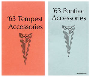 1963-1963 Bonneville Accessorizer Booklet (2 Books)