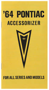 1964-1964 GTO Accessorizer Booklet