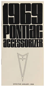 1969 Bonneville Accessorizer Booklet
