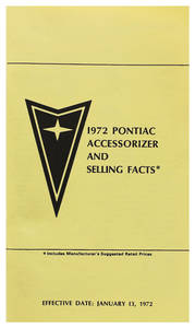 1972 LeMans Accessorizer Booklet