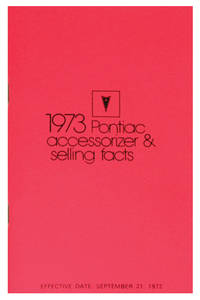 1973 Grand Prix Accessorizer Booklet