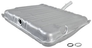 1965-67 Tempest Fuel Tank Zinc-Plated Exc. Wagon, w/o Vent, 21-1/2-Gallon, by RESTOPARTS