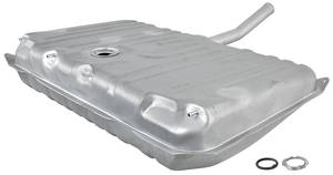 1971-1972 LeMans Fuel Tank Zinc-Plated w/o EEC, 3 Vent, 17-Gallon, by RESTOPARTS