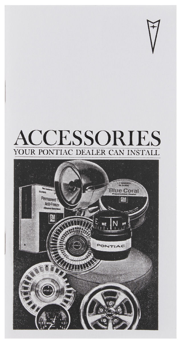 Photo of Pontiac Accessories Booklet