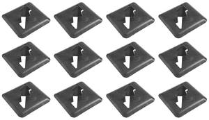 1964-66 Bonneville Underhood Insulation Clips All Models, Metal (12-Piece)