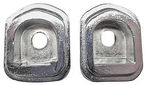 1967-1967 GTO Dash Grab Bar Handle Bezels, 1966-67