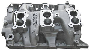 1966-1966 Bonneville Intake Manifold, 1966 Tri-Power Cast-Iron
