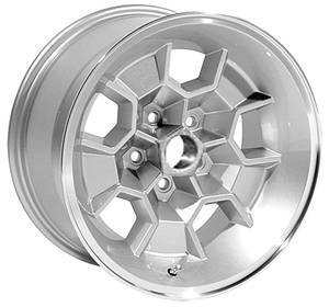 "1971-72 LeMans Wheel, Honeycomb Silver, 17"" X 9"" (5-1/8"" B.S.), by U.S. Wheel"