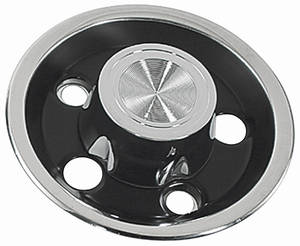 1966-68 Tempest Wheel Center Cap, Rally I Reproduction Wheels Black, by SPECIALTY WHEEL