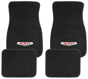 1964-73 Floor Mats, Carpet Matched Essex GTO Emblem