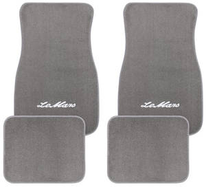 "1961-73 Floor Mats, Carpet Matched Essex ""LeMans"" Script"