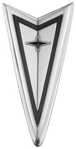 LeMans Nose Emblem, 1968 Arrowhead w/Chrome Bumper