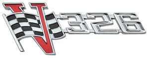 """Deck Lid Emblem, 1963 Tempest """"326 V-Flag"""""""