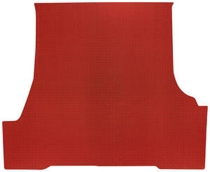 1961-63 Trunk Mat 1-Piece, Tempest 2-/4-dr. Sedan (Red Rubber, Houndstooth)