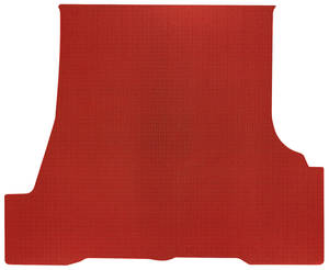 1962-63 Trunk Mat 1-Piece, Tempest/LeMans Convertible (Red Rubber, Houndstooth)