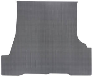 1962-1963 LeMans Trunk Mat 1-Piece, Tempest/LeMans Convertible (Gray Rubber, Houndstooth)