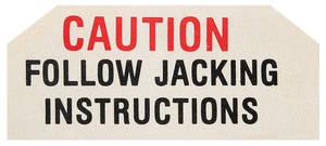 1961 LeMans Trunk Decal Jack Base