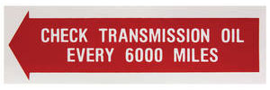 1961-62 Trunk Decal Transmission Tempest, Check Transmission