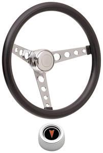 1959-63 Bonneville Steering Wheel Kits, Classic Foam Hi-Rise Cap - Polished with Arrowhead Center, Early Mount
