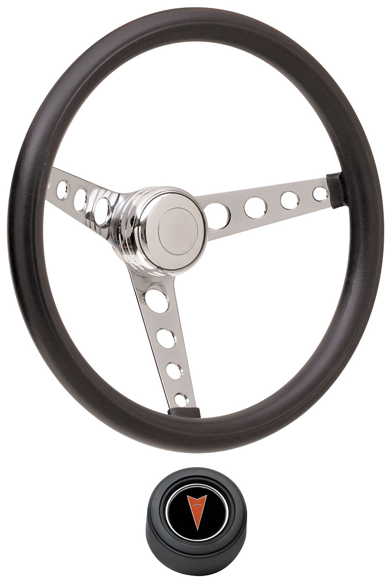 Photo of Steering Wheel Kits, Classic Foam Hi-Rise Cap - Black with arrowhead center, early mount